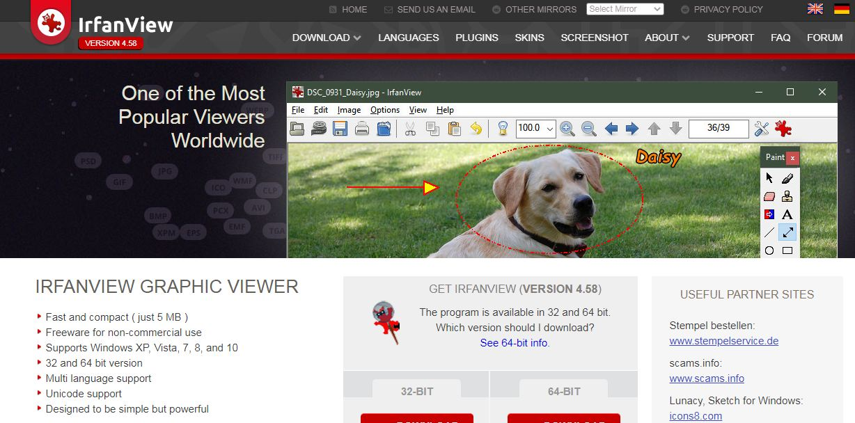 irfanview-homepage